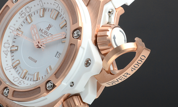 hublot king power oceanographic 4000 king gold