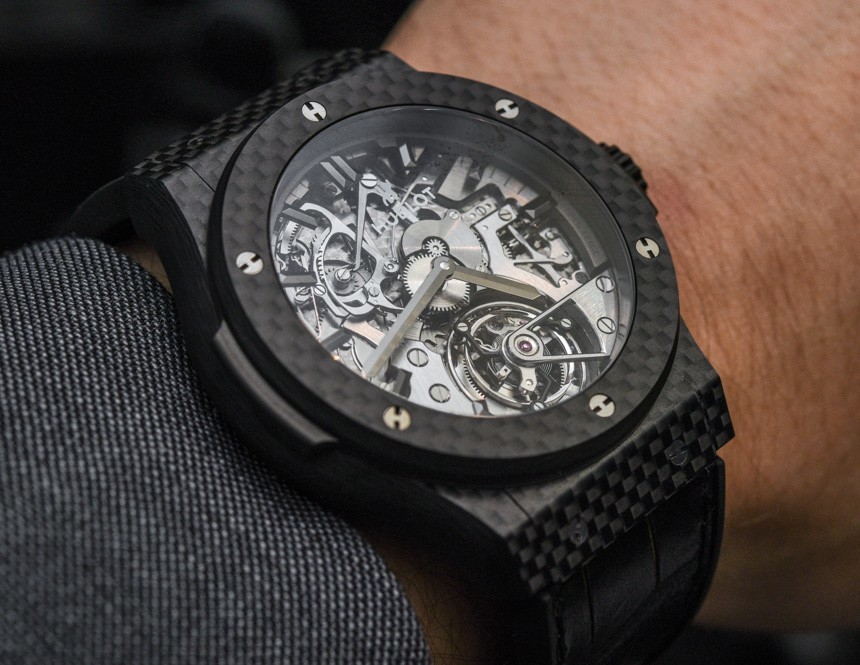 Hublot Classic Fusion Tourbillon Cathedral Minute Repeater Carbon Watch